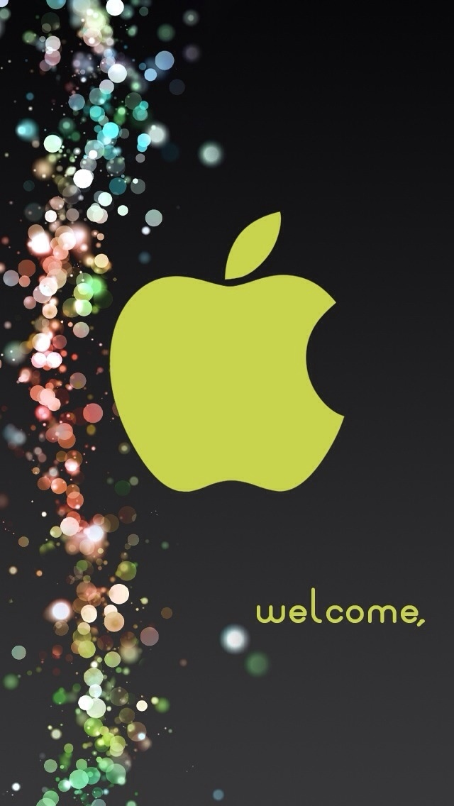 Another custom iPhone 5 background Apple logo wallpaper