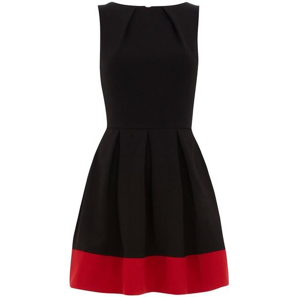 Black contrast hem dress ($79) ❤ liked on Polyvore: Fancy Dresses, Dresses 79, Parties Dresses, Black Contrast, Red Casual Dresses, Hemmings Dresses, Little Black Dresses