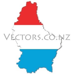 Flag Vector Map of Luxembourg