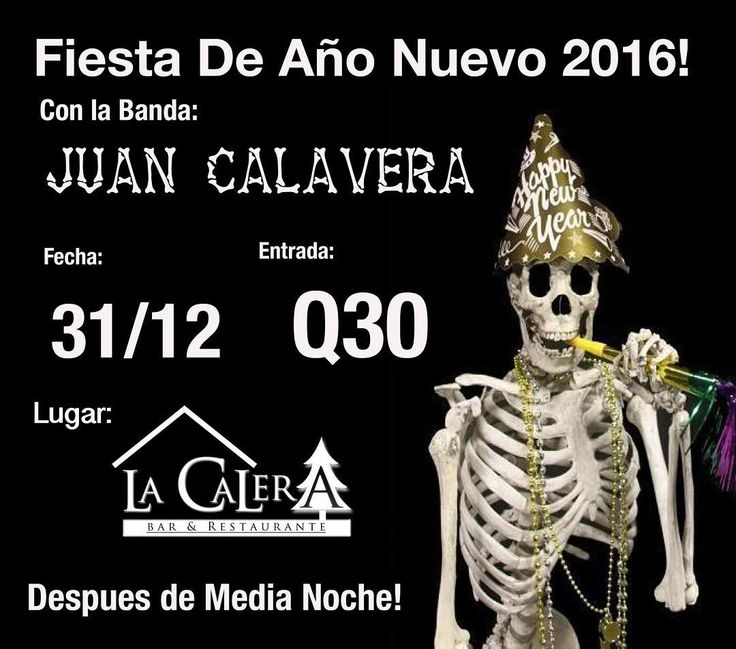 Mañana nos vemos en #LaCalera en Poptun Peten para recibir el año 2016! #newyear2016 #livemusic