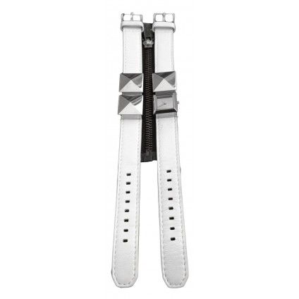 Karl Lagerfeld white leather watch