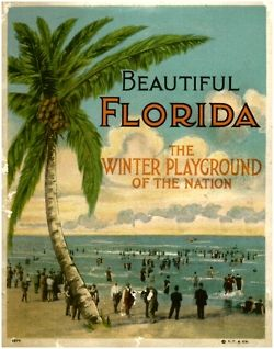 Ah, when men wore full suits to the beach... L'hiver en Floride, c'est pas d'aujourd'hui - 1922