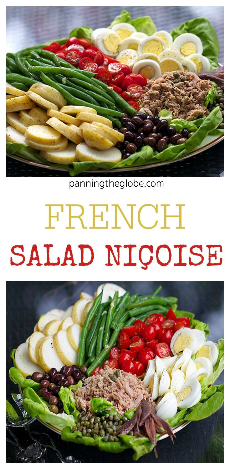 Salad Niçoise - a French composed salad. Perfect for lunch, brunch or healthy dinner.