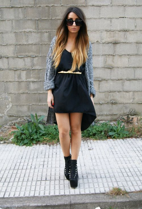 STOLE YOUR GOLDCardigans, Outfit Inspiration, Perfect Dresses, Heels