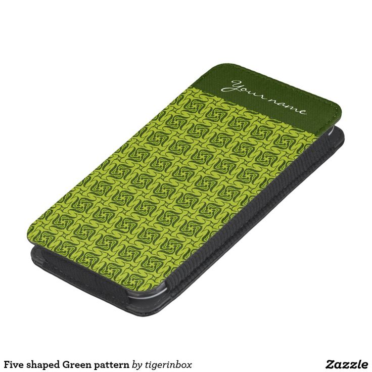 Five shaped Green pattern Galaxy S4 Pouch