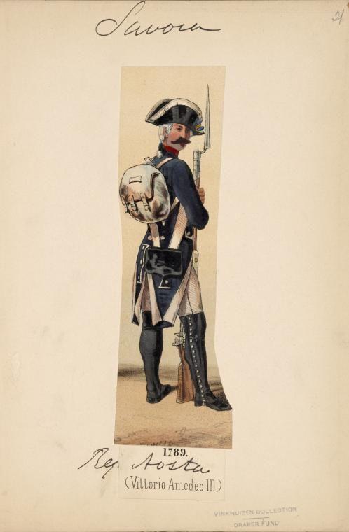 Savoy. Infantry Regiment Aosta 1789