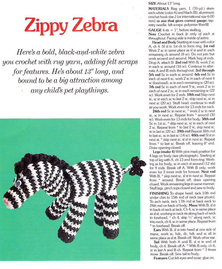 123 best crochet zebras images on pinterest crochet zebra zippy zebra crochet pattern dt1010fo