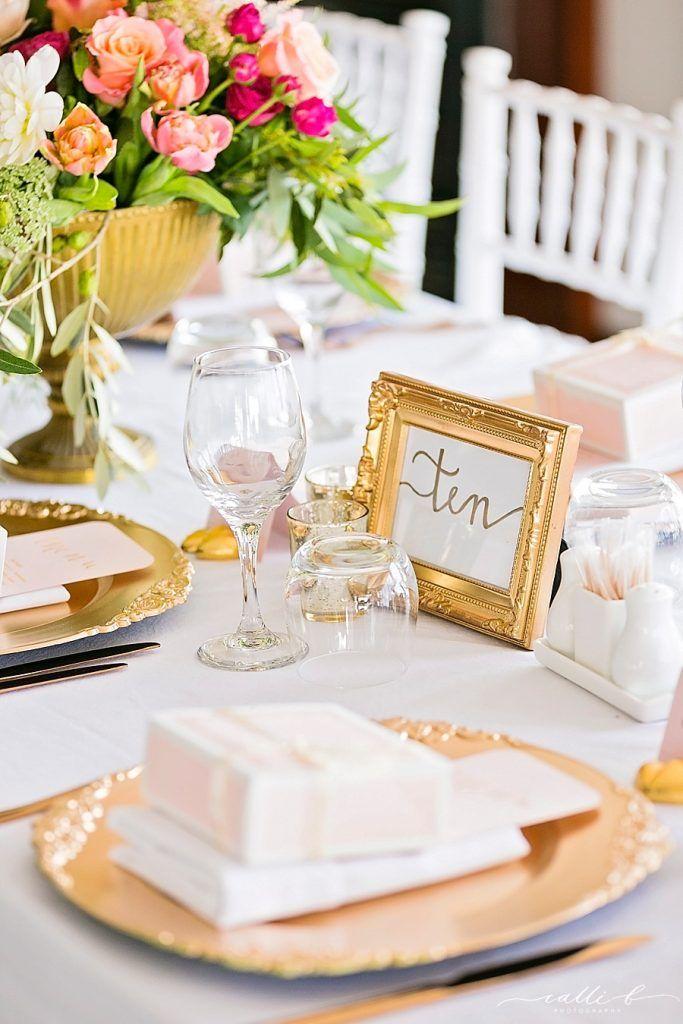 Gold Framed Scripted Table Numbers - Lovebird Weddings, Noosa Australia