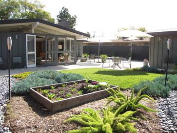 Mid Century Modern Landscape Design Ideas image of farmhouse mid century modern landscaping My Houzz A Mid Century Marvel Revived In Long Beach Modern Landscape Orange County Tara Bussema For The Home Pinterest Gardens Backyards And