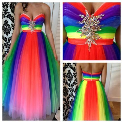 Rainbow Prom Dress...Very Pretty..