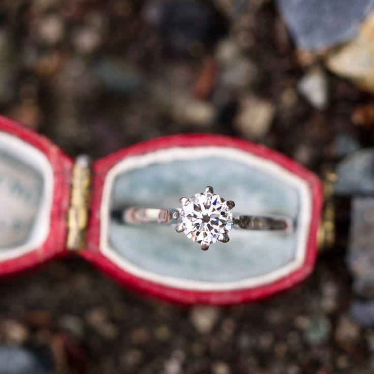 AGS 1/2 Carat F/VVS1 Triple Ideal Round Brilliant Diamond Solitaire Engagement Ring
