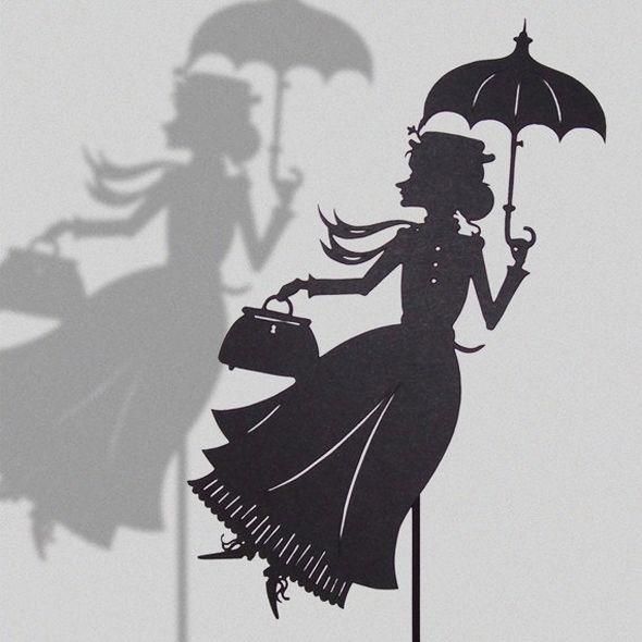Personnage mystère - Image de fond  Mary Poppins (Isabella-Art-Paper-Cut)