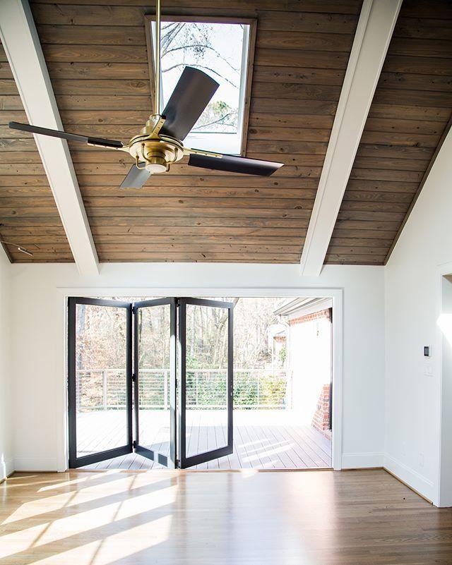 Peregrine Industrial Ceiling Fan Vaulted Ceiling Living Room