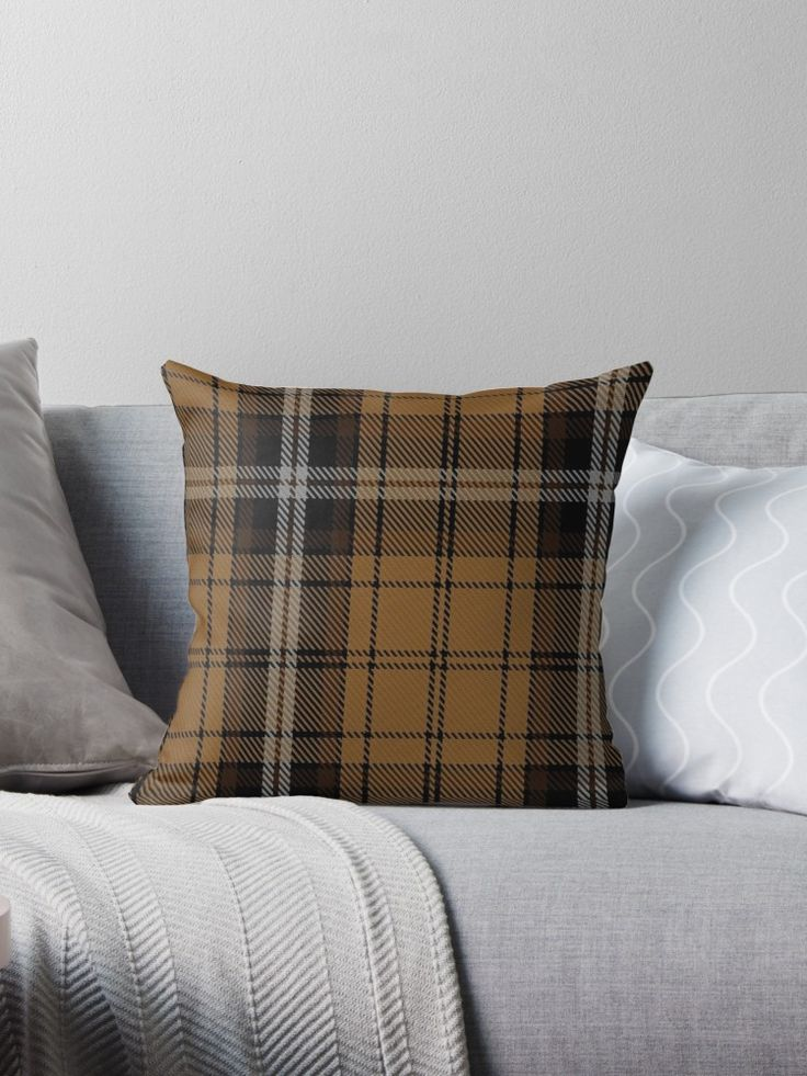 """Campbell 'Camel' Tartan "" Throw Pillows by Detnecs2013 