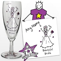 Personalised Purple Ronnie Wedding Bride Flute from Experience Frenzy