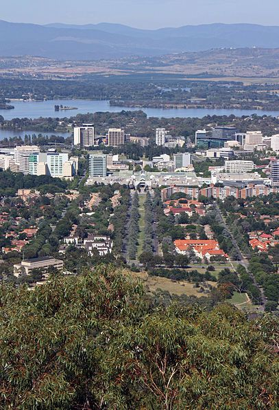Canberra CBD from Mt Ainslie