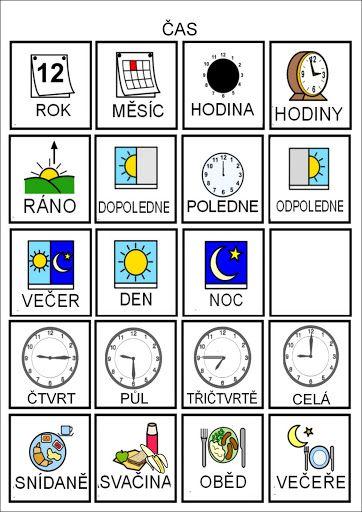 Tak TROCHU ... jiný svět: Čas - piktogramy