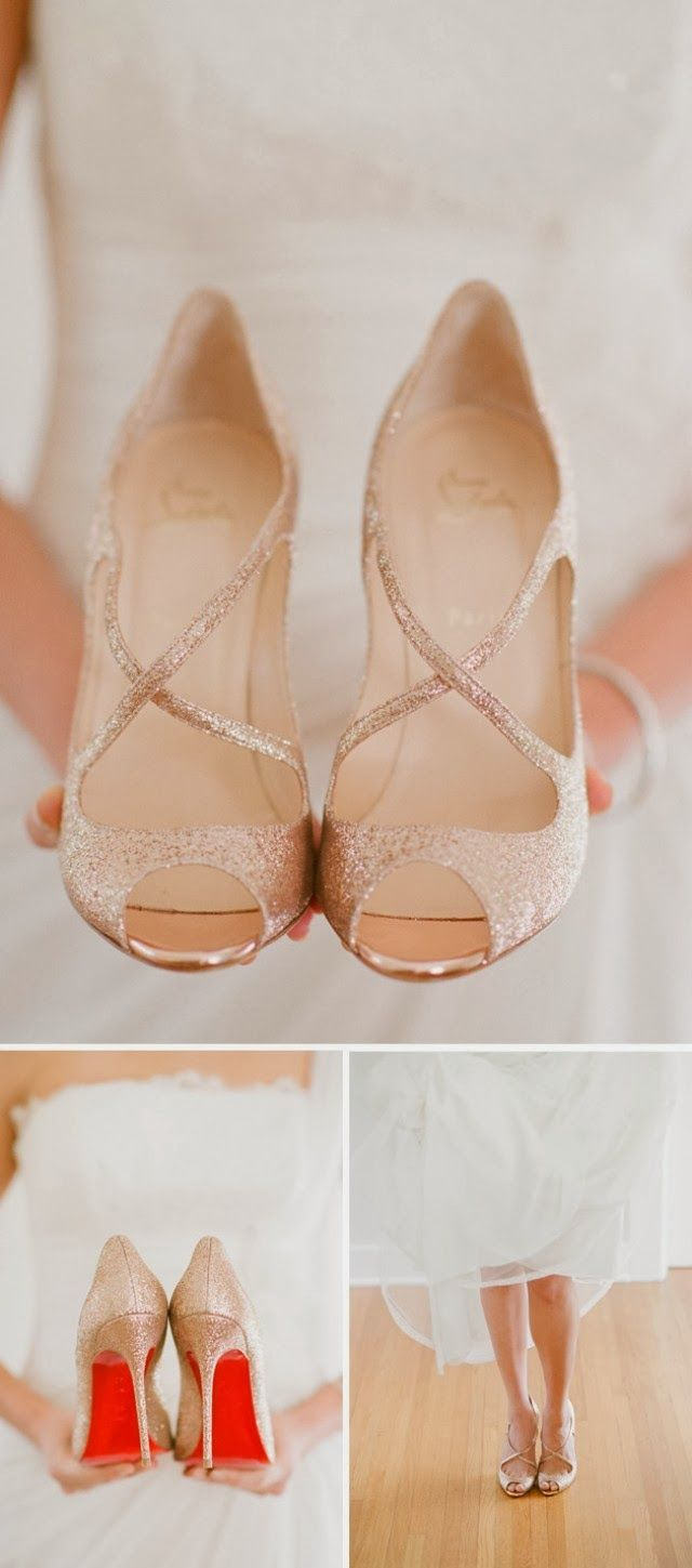 Christian Louboutin Wrap Peeptoes beautiful bridal shoes #wedding #mybigday
