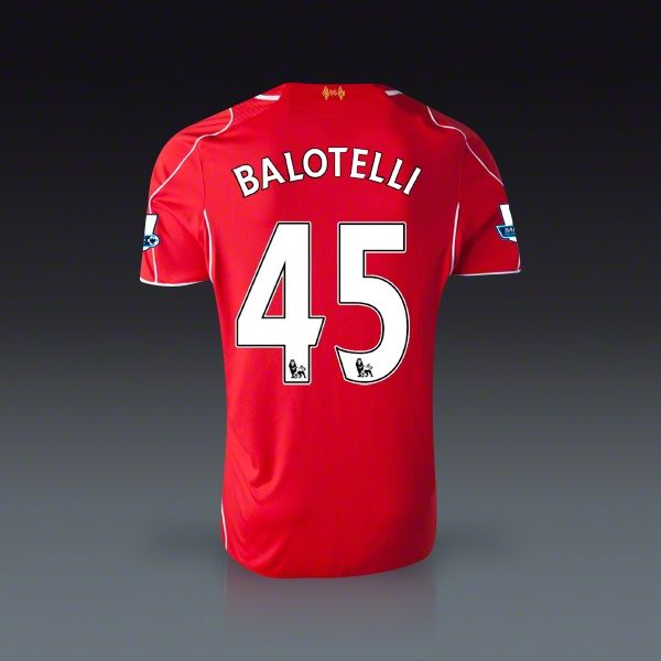 Warrior Mario Balotelli Liverpool Home Jersey 14/15 | SOCCER.COM