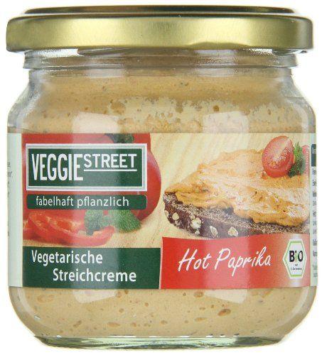 Veggie Street Vegetarische Streichcreme Hot Paprika, 6er Pack (6 x 180 g) – Bio