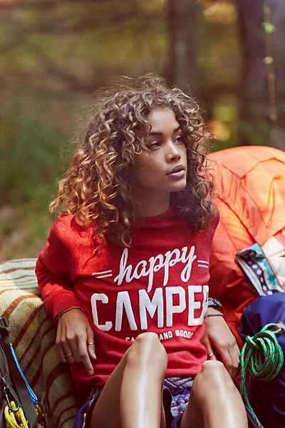 Camp Brand Goods Happy Camper Sweatshirt - Urban Outfitters