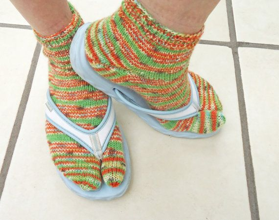Hey, I found this really awesome Etsy listing at http://www.etsy.com/listing/162749378/hand-knit-women-wool-thong-socks-flip