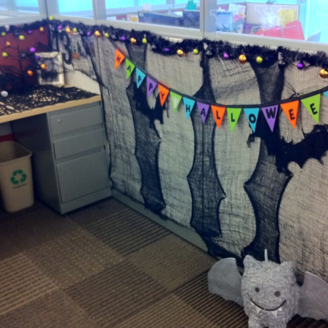 decorating office for halloween. my desk at work halloweenu0027d out decorating office for halloween n