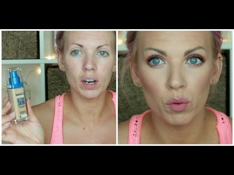 ♡ Full Coverage Foundation Routine for Wrinkles & Acne Prone Skin ♡ - YouTube