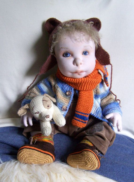Tony 20     Soft Sculptured Doll Ooak Doll  by MaryUniqueDoll