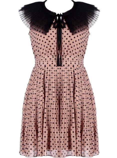 Fanned Collar Dress :)Rickety Racks, Chiffon Skirt, Polka Dots, Fans Collars, Collars Dresses, Ricketyrack Com, Chiffon Dresses, Lace Dresses, Fans Dresses