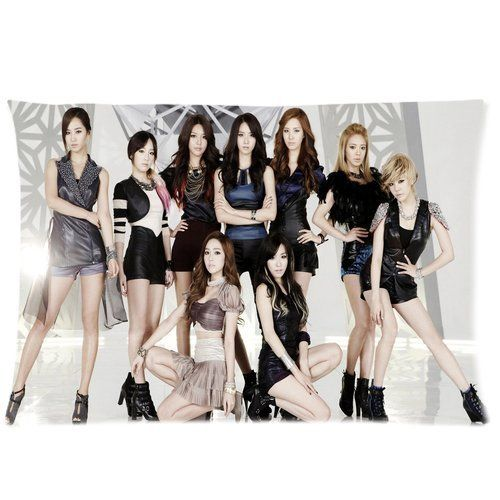 Girls Generation KPOP Korean Girl Band Custom Pillowcase Cover Two Side Picture Size 16x24 Inch  * ** AMAZON BEST BUY **
