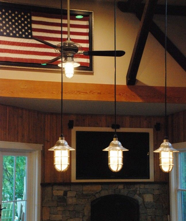 American-made industrial lighting makes a patriotic mark in homes