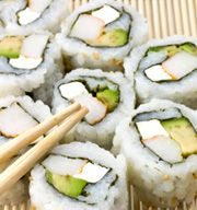 California Rolls recipe from Asian Food Grocer.