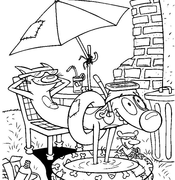 cow and chicken coloring pages - photo#19