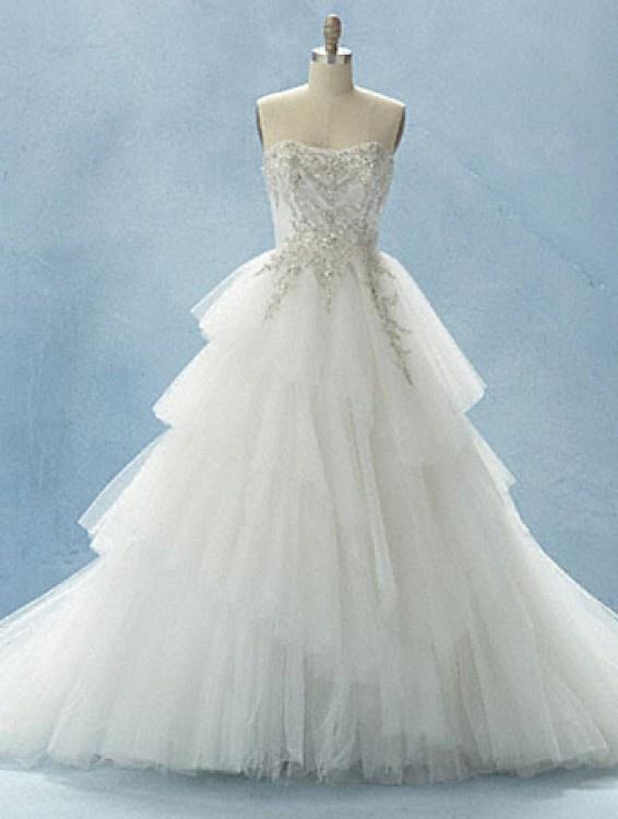Popular  AlfredAngelo Cinderella Platinum wedding dress bride gown Disney