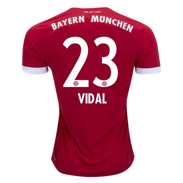 adidas Arturo Vidal Bayern Munich Home Jersey 17/18