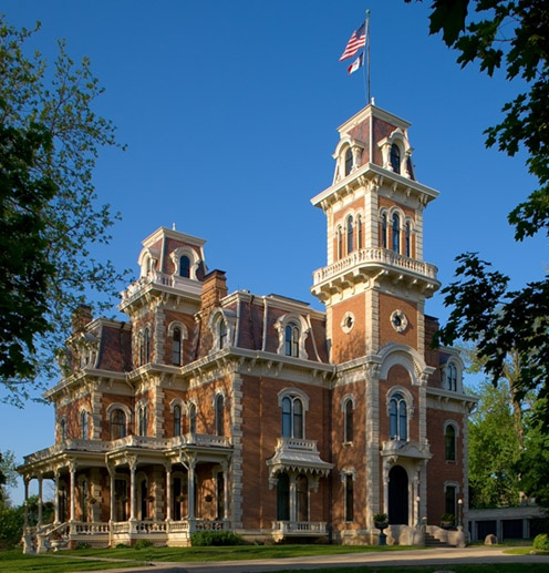 Terrace Hill-Des Moines, Iowa's Governor's Mansion. Second Empire, Mansard Roof