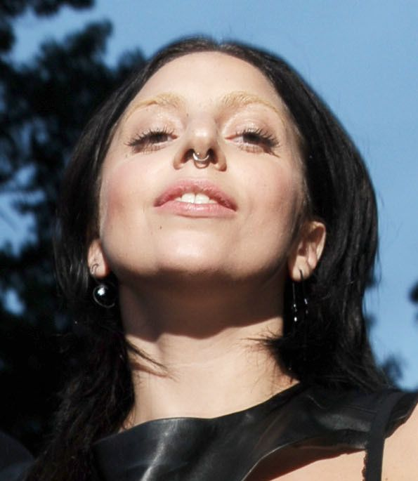 Lady Gaga: Nose Ring, Black Hair, Goth Style Make For Wild New Look