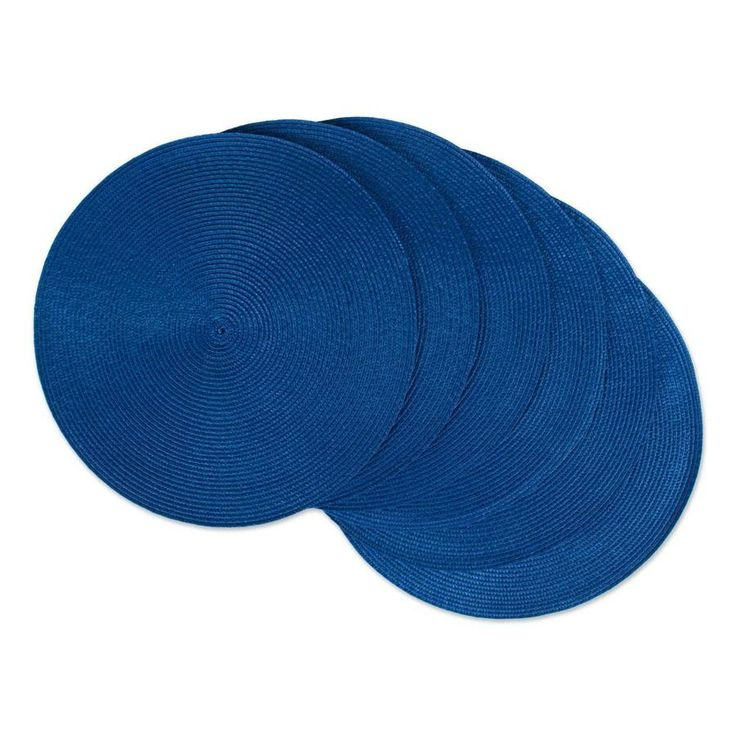 Dii 6 Pack Blue Wicker Round Placemats Lowes Com In 2020 Woven Placemats Nautical Blue Placemats