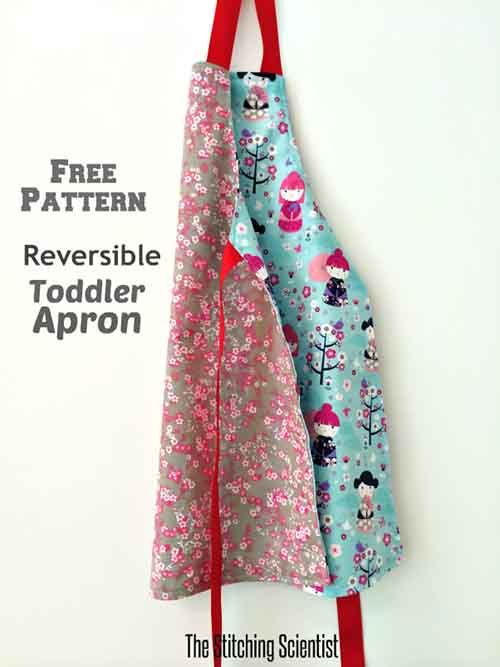 Reversible Toddler Apron with Free Pattern