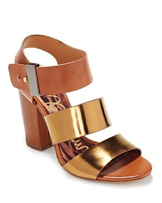 Sam Edelman gold strappy sandals