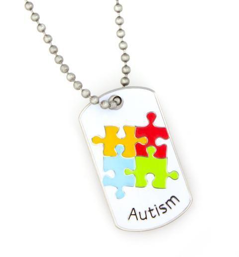 Tag autismo Mini perro de identificación médica
