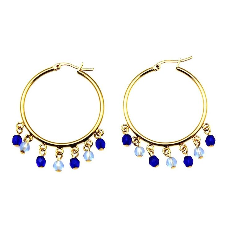 Bette Emotional Rescue Czech Glass Earrings Gold Plated