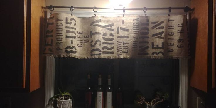 Excited to share the latest addition to my #etsy shop: Coffee Bean Sack Burlap Valance http://etsy.me/2GI4cOL