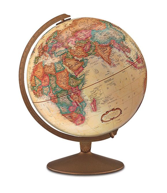 replogle franklin desktop world globe with metal semi meridian and base and 12