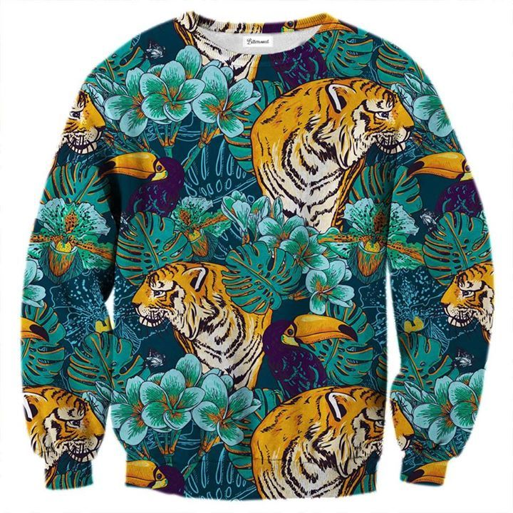 The jungle sweatshirt is represented by the tiger and the toucan. You too can (oh so punny!) experience the wilderness - the Chinese inspired drawing style will surely make that possible. www.bittersweetparis.com