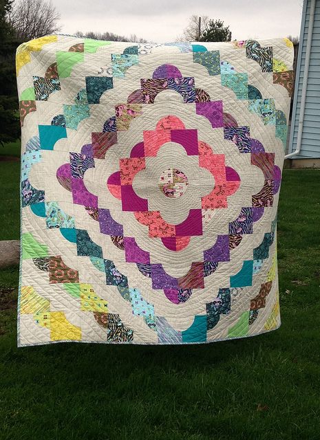 Completed Acacia Drunkards Path Quilt | Flickr - Photo Sharing!