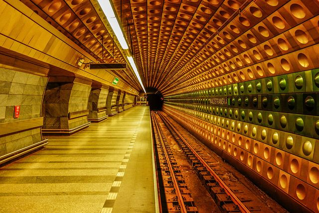 Prague underground metro.  I rode this when I was there.