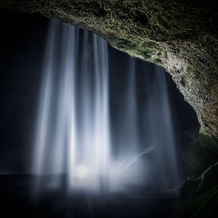 Seljalandfoss by Night Photo by Kenneth McDowell — National Geographic Your Shot