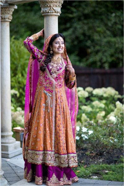 Bridal by Farah Talib Aziz (Design House), Photography by Bilal (Desi Bridal Shaadi Indian Pakistani Wedding Mehndi Walima)
